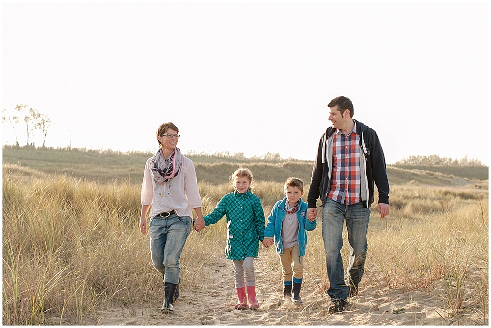 Familienfotos am Strand