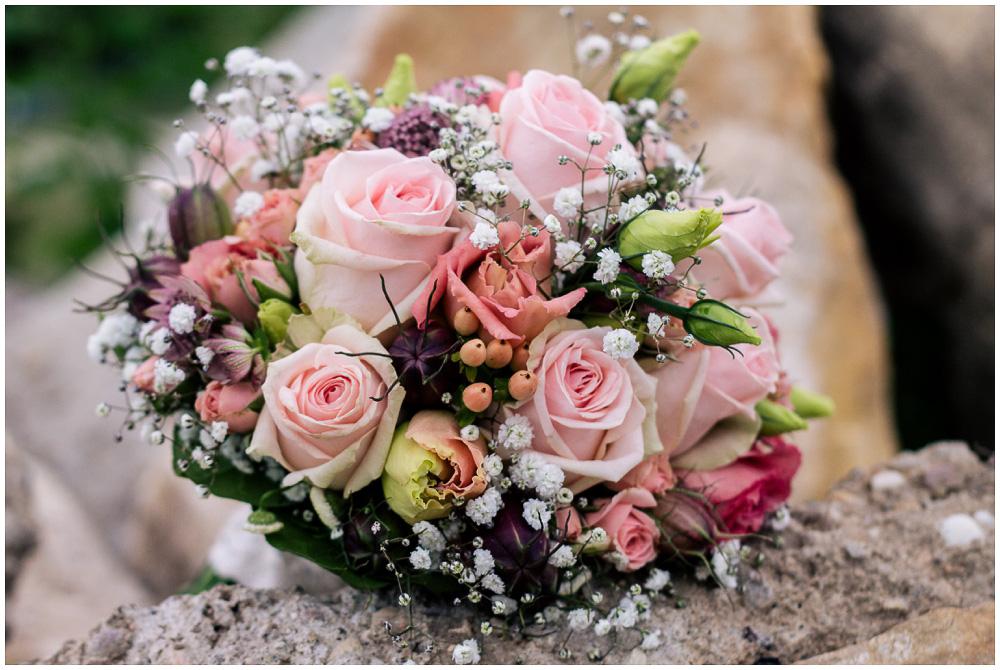 Brautstrauß Vintage rosa