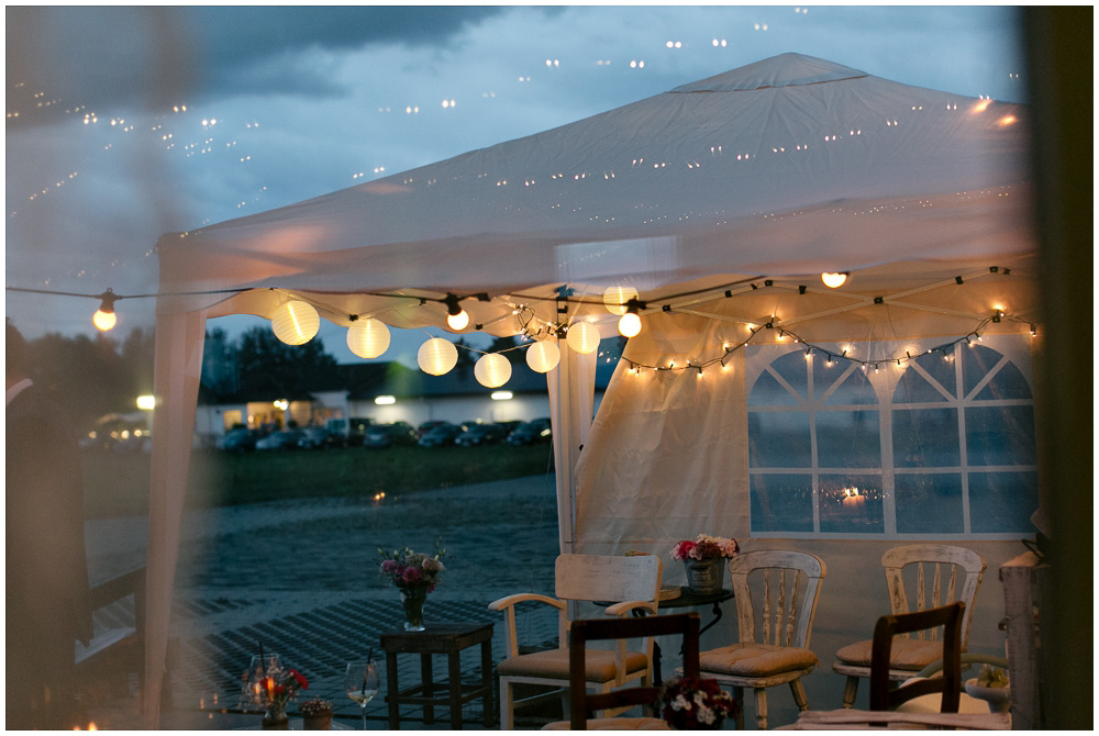 Hochzeitsdeko für draußen