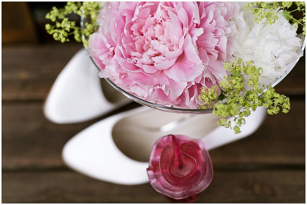 Rosa Blumen Hochzeit