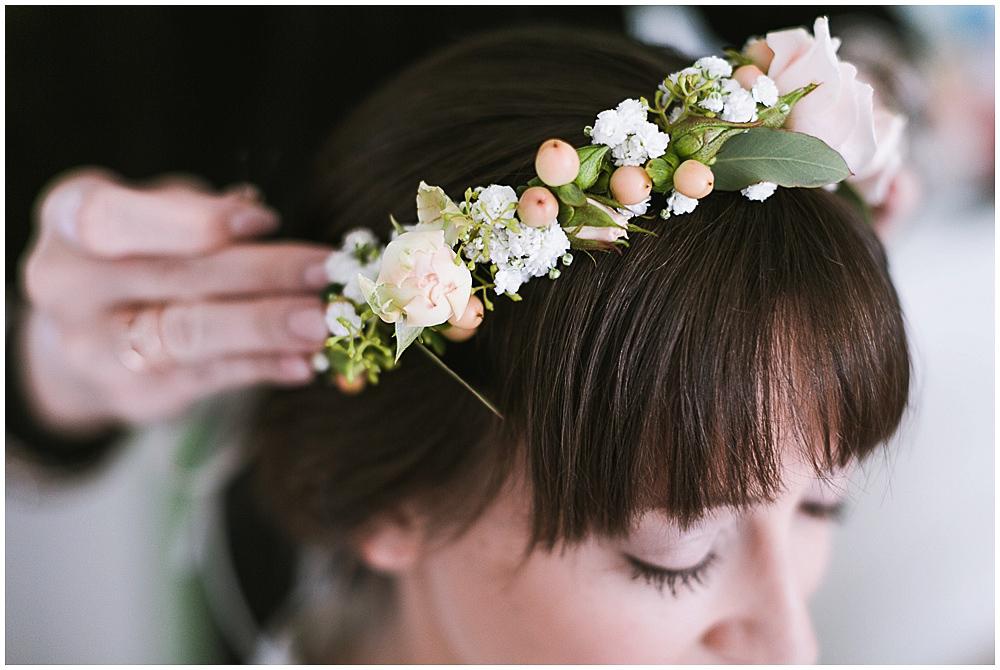 Vintage Blumenschmuck Hochzeit