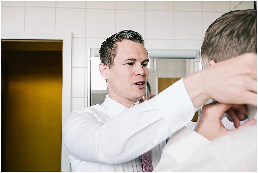 getting ready groom