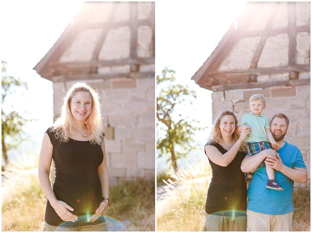 Familienfotos im Spätsommer
