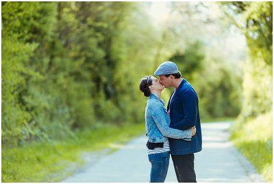 Verlobungsfotos in den Weinbergen