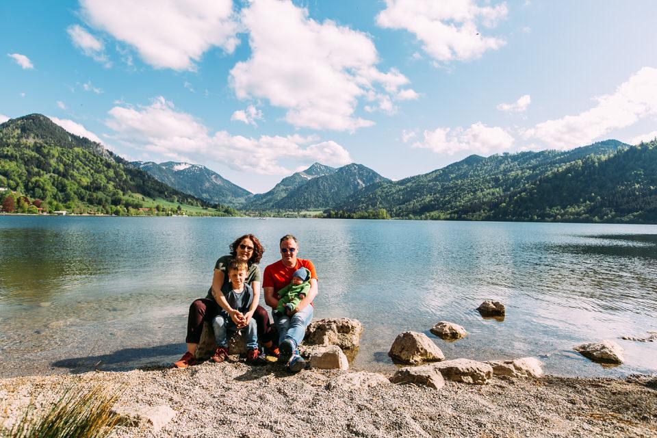 Familienfotos am Schliersee in Bayern